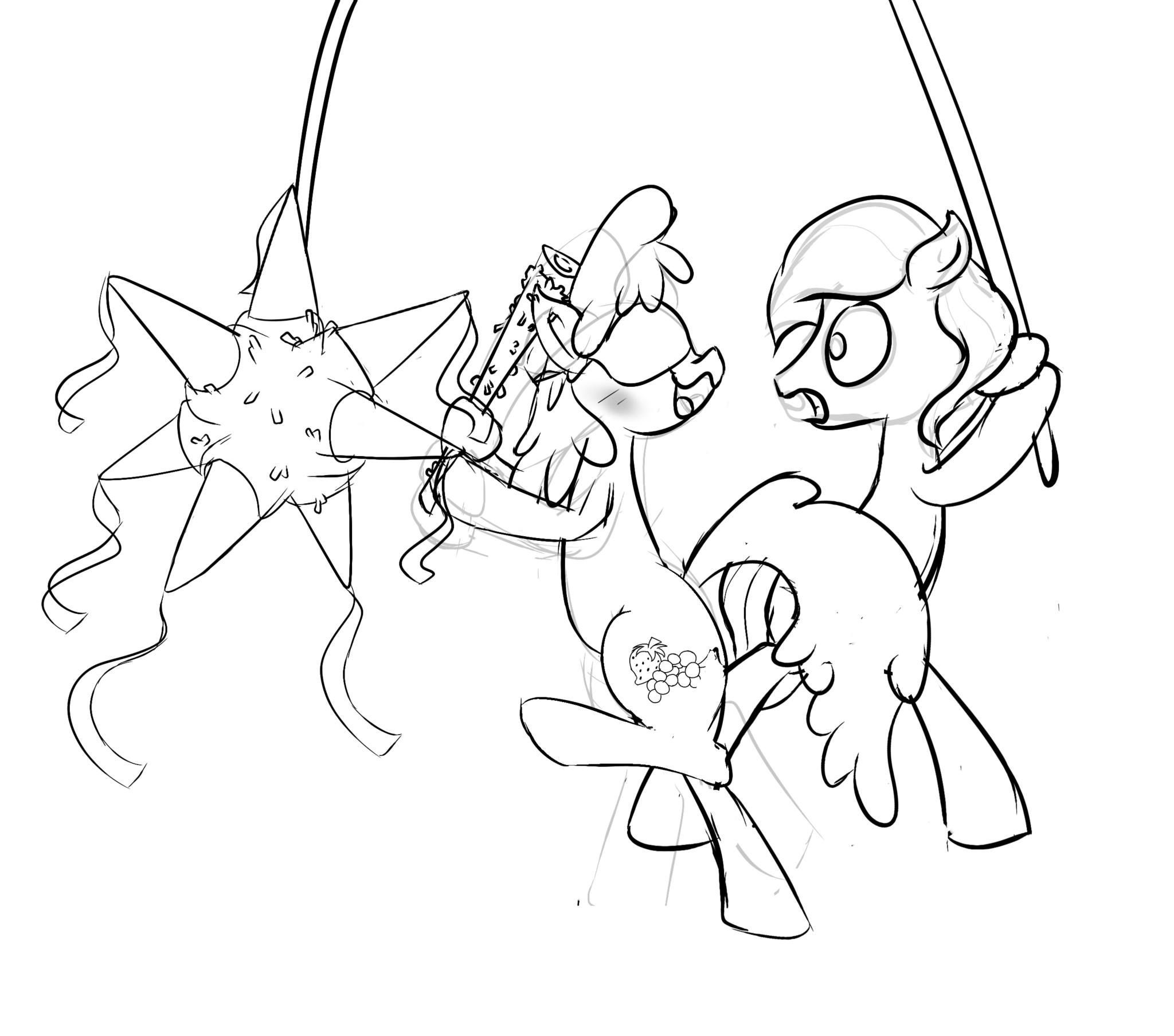2048x1808 An Sketch Of Berry Punch About To Hit A Crystal Pony. Here Is