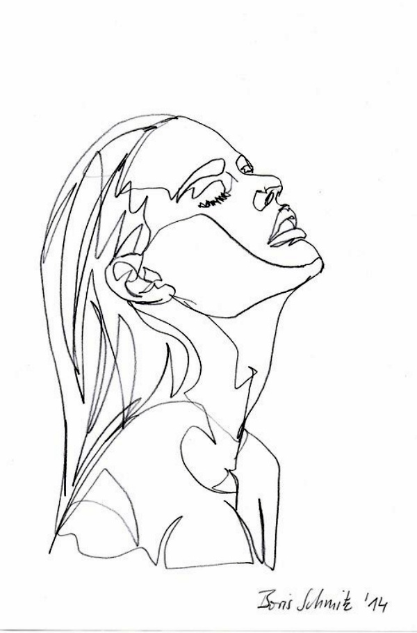 600x910 40 Best Examples Of Line Drawing Art