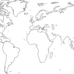 250x250 World Map Drawing, Pencil, Sketch, Colorful, Realistic Art Images