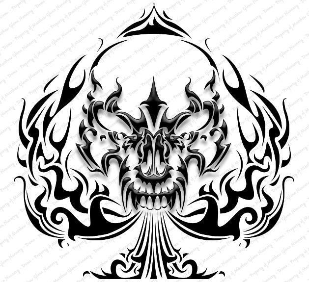 629x575 Tattoos Designs Drawings Skull Tattoo Designs27.jpg Tattoo