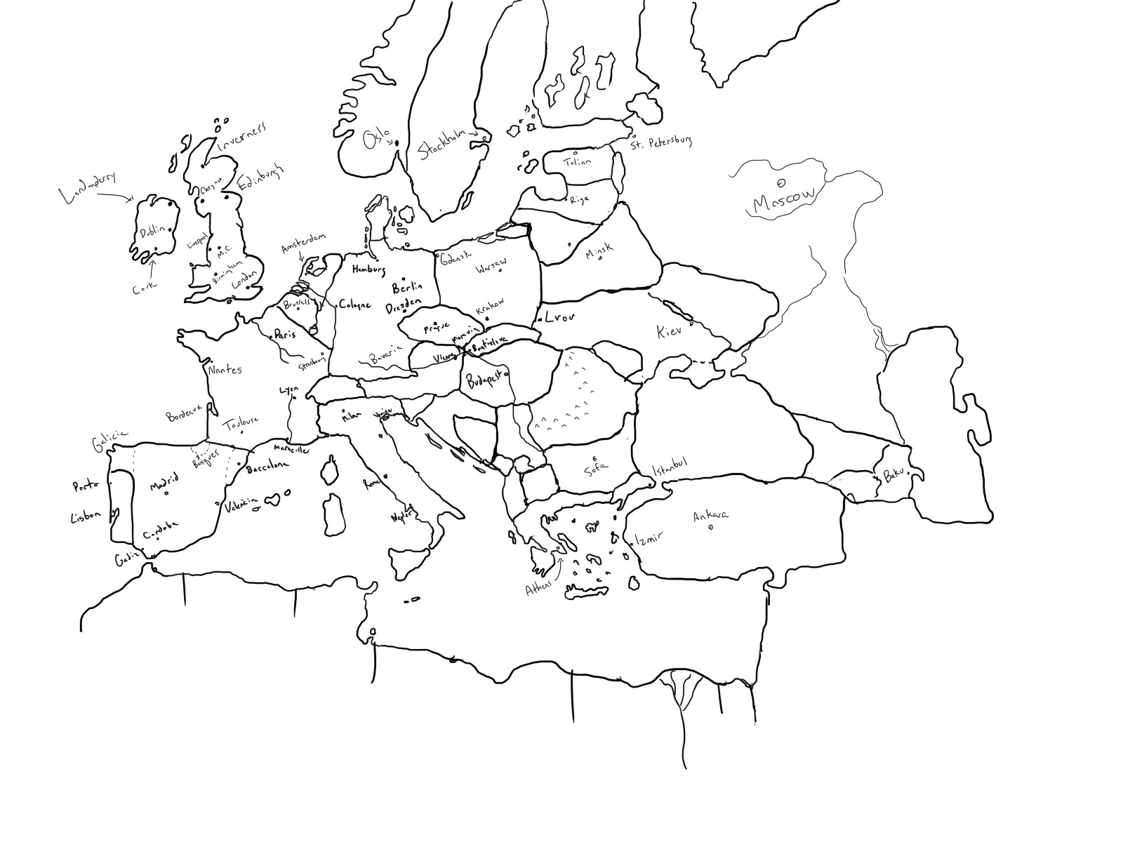 1600x1200 Drawing A World Map Fresh Hilariously Bad Attempts By Americans