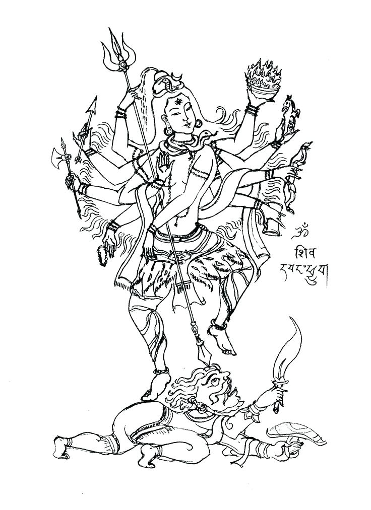736x1013 Epic Lakshmi Coloring Pages Best Of Page The 8 Arms God Creator