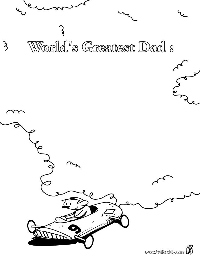 820x1060 World's Greatest Dad Coloring Pages