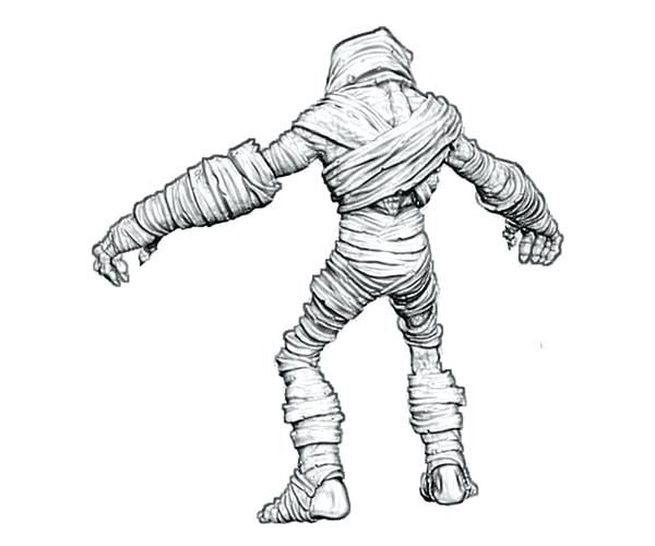 600x500 Best Of 3d Coloring Pages Images Mummy Model Coloring Page Super