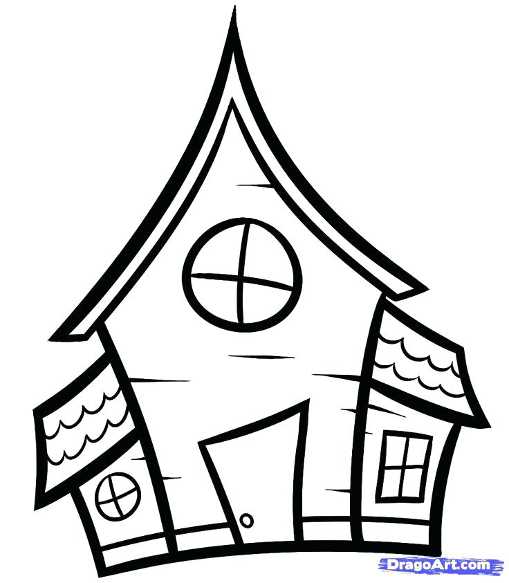 736x843 Simple House Drawings Tall House North Simple House Plans Drawing