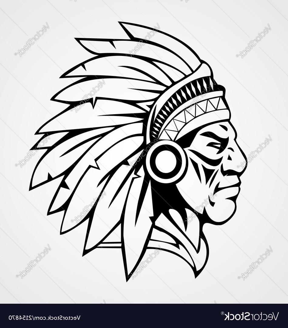 949x1080 Best Free Indian Head Vector Drawing