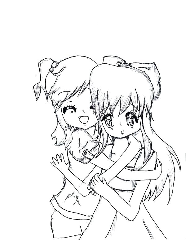 Best Friends Drawing at GetDrawings.com | Free for personal use Best ...