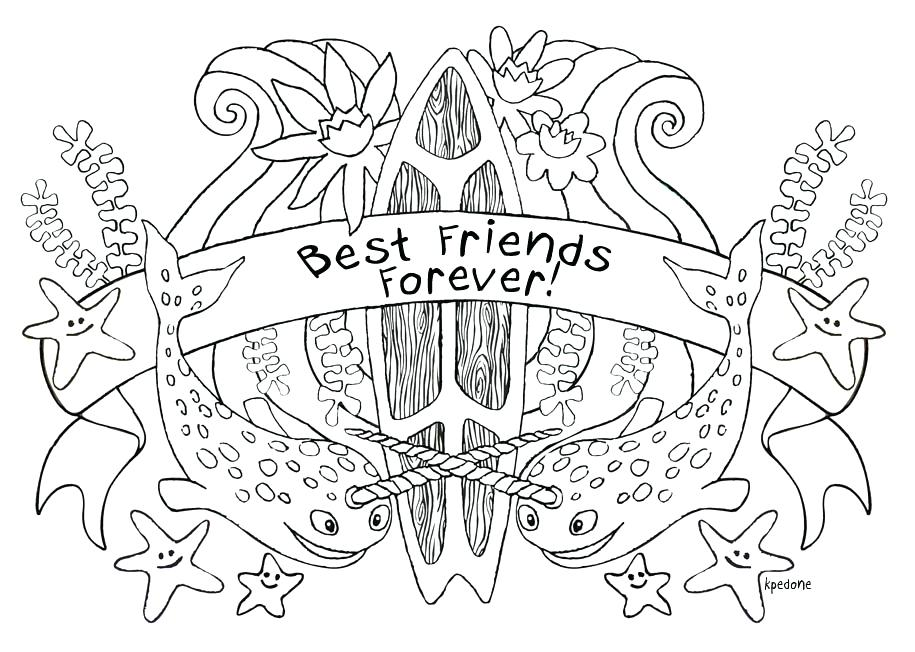 915x652 New Best Friend Coloring Pages Of Friendsever Friendship
