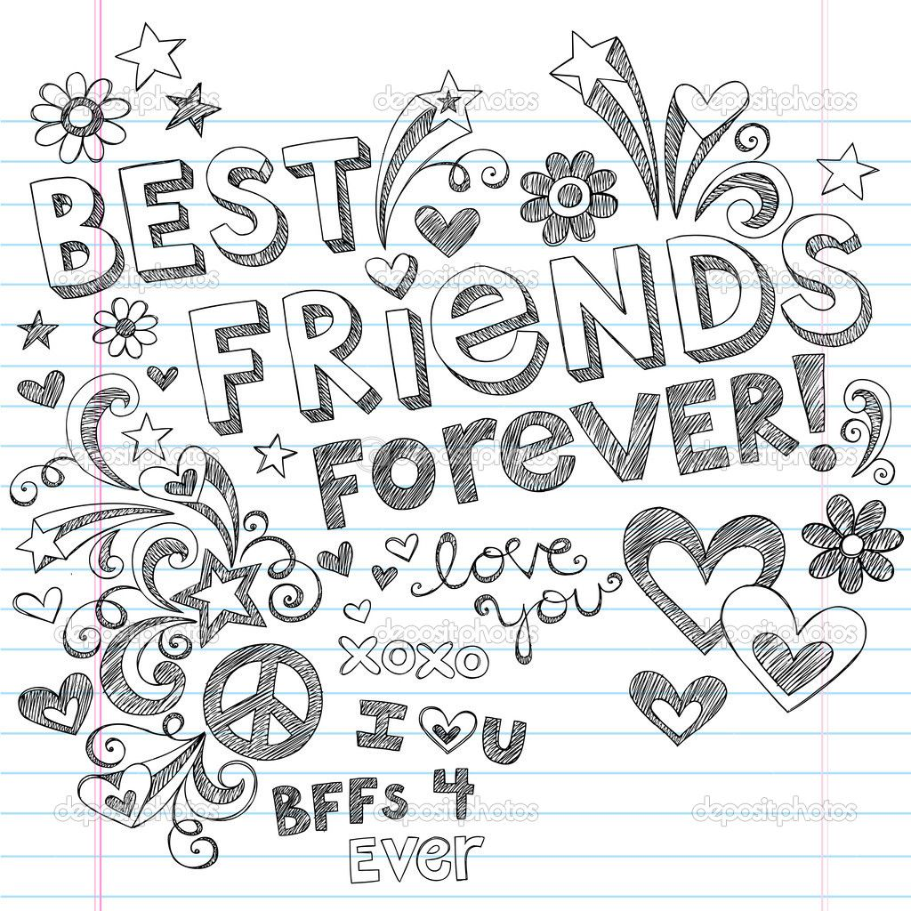 1024x1024 Each Bff Color Element Best Friends Forever Bff Back To School