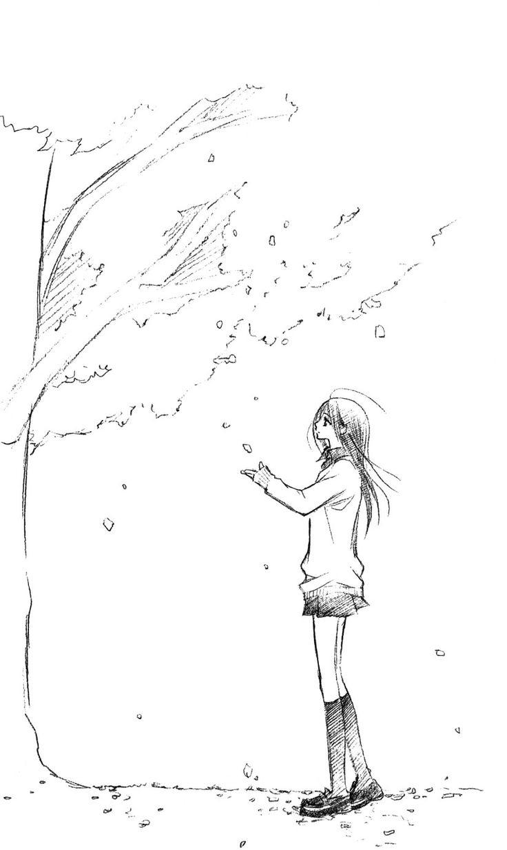736x1234 Anime Tree Drawing 17 Best Animemanga Images