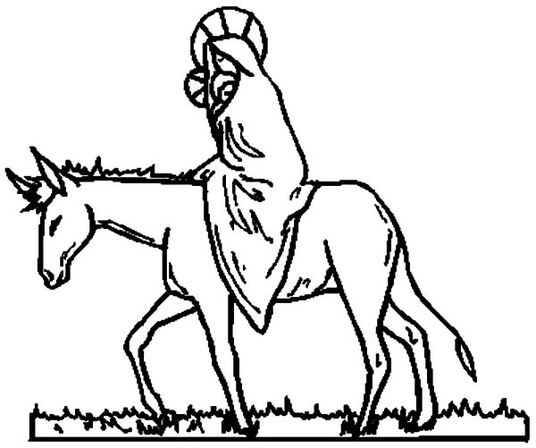 600x501 Drawing Mary And Donkey Coloring Pages Drawing Mary And
