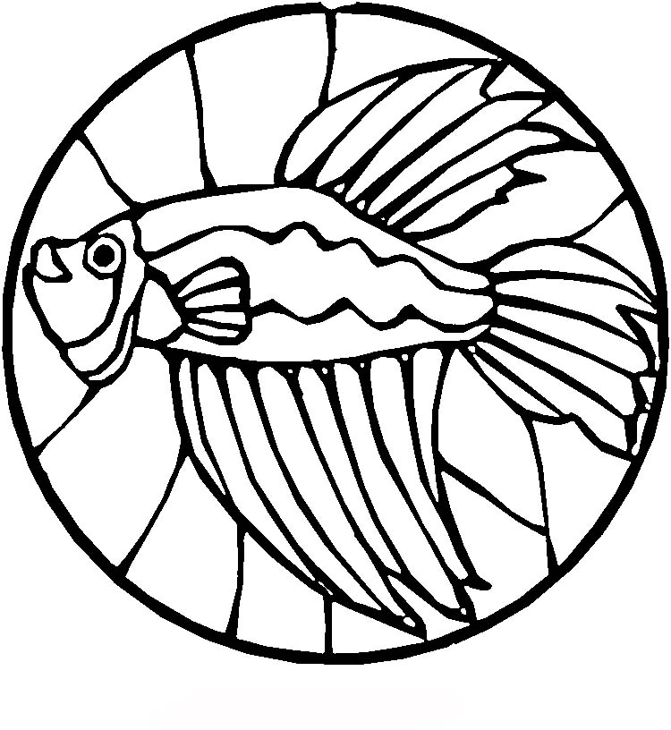 750x816 Stained Glass Coloring Pages Betta Fish