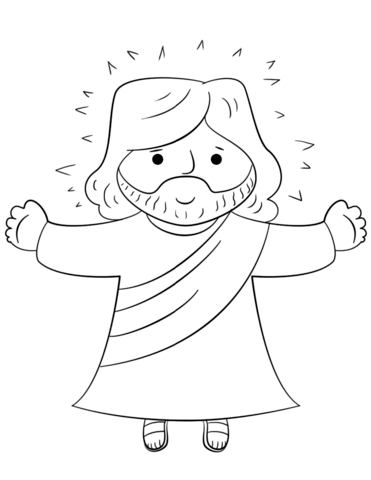 371x480 Cartoon Jesus Coloring Page From Jesus Resurrection Category