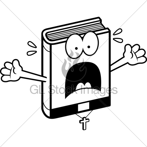 500x500 Scared Cartoon Bible Gl Stock Images