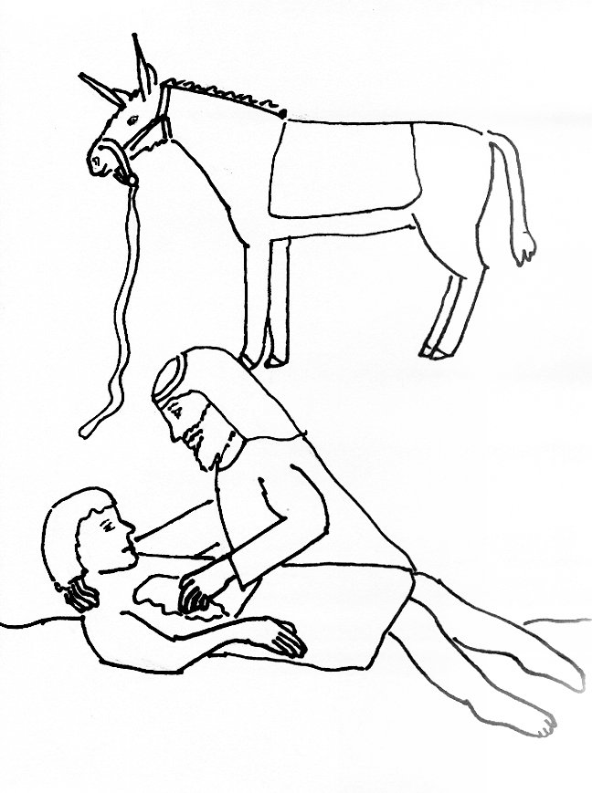 648x869 Bible Story Coloring Page For The Good Samaritan Free Bible