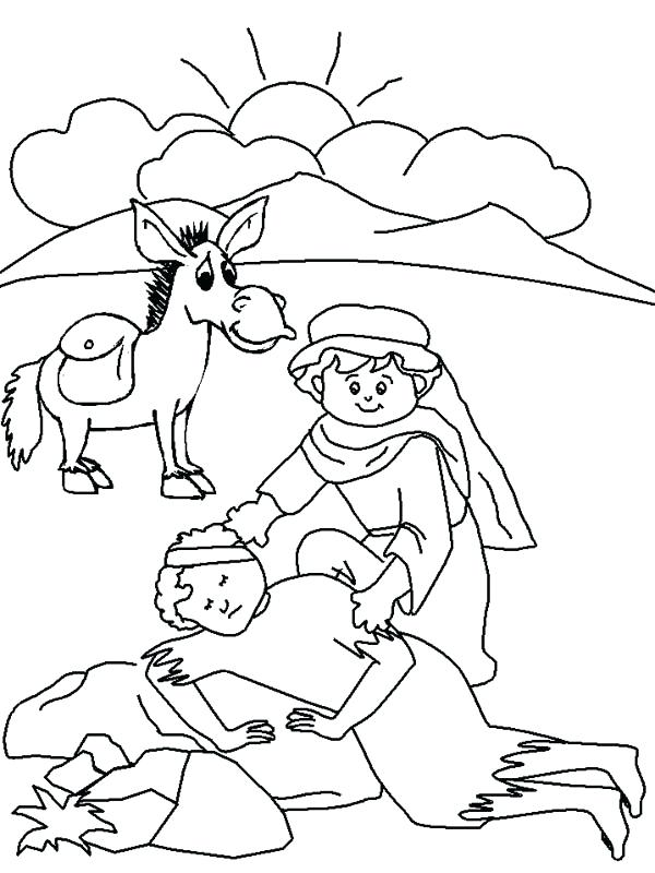 600x800 Good Samaritan Coloring Pages Good Drawing Coloring Page Good
