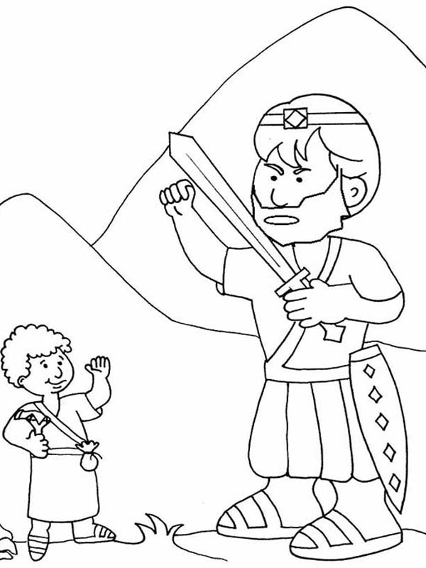 600x800 How To Draw David Versus Goliath In The Bible Heroes Story