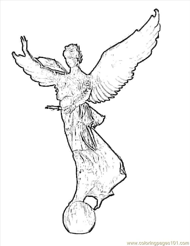 650x841 Bible Angel Coloring Page