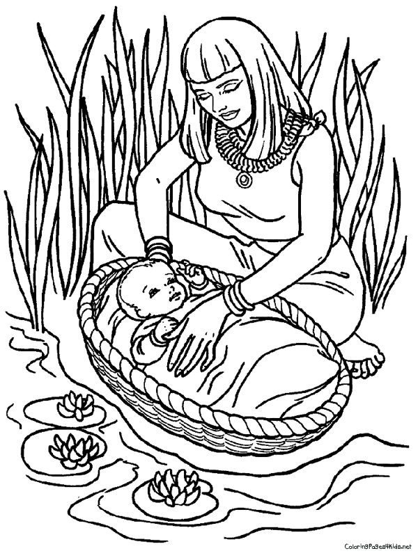 600x805 Moses Coloring Pages