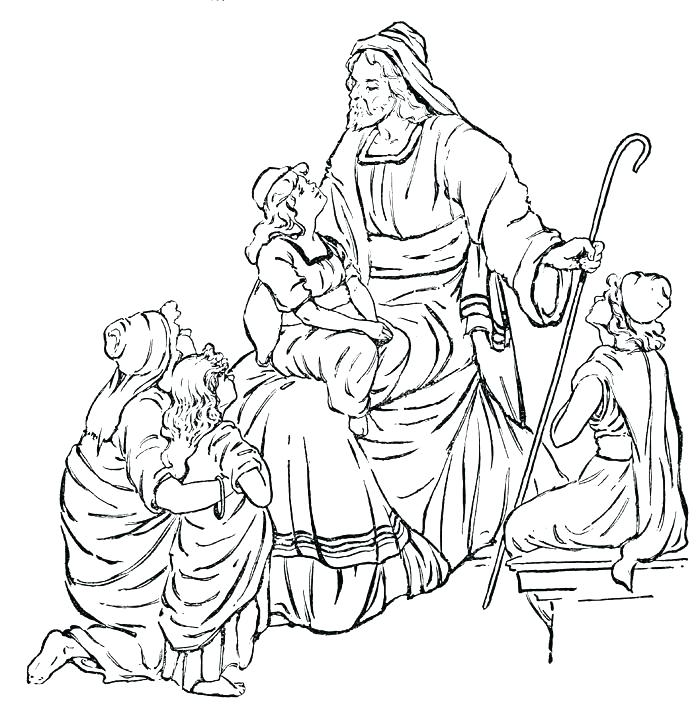 700x724 Free Printable Bible Story Coloring Pages Joandco.co