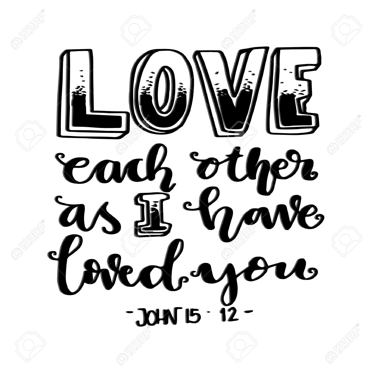 Love Each Other As I Have Loved You: Bible Verses Drawing At GetDrawings.com