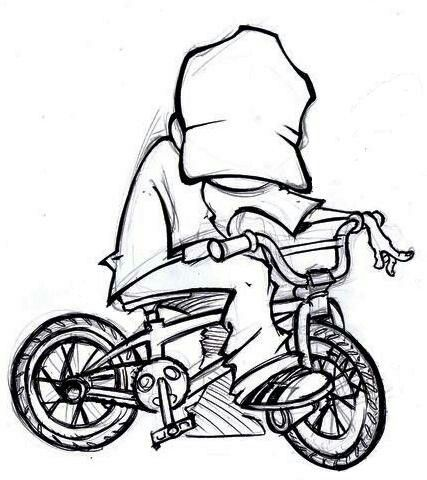 Bicycle Cartoon Drawing