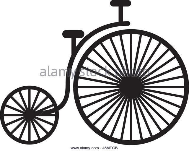 640x511 Old Style Black Bike Bicycle Stock Photos Amp Old Style Black Bike