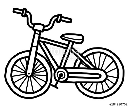 Bicycle Cartoon Drawing at GetDrawings.com