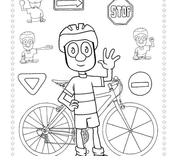678x600 Bike Safety Coloring Pages Drawing Bike Safety Coloring Pages