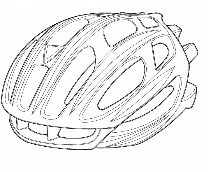 how to draw a bike helmet easy