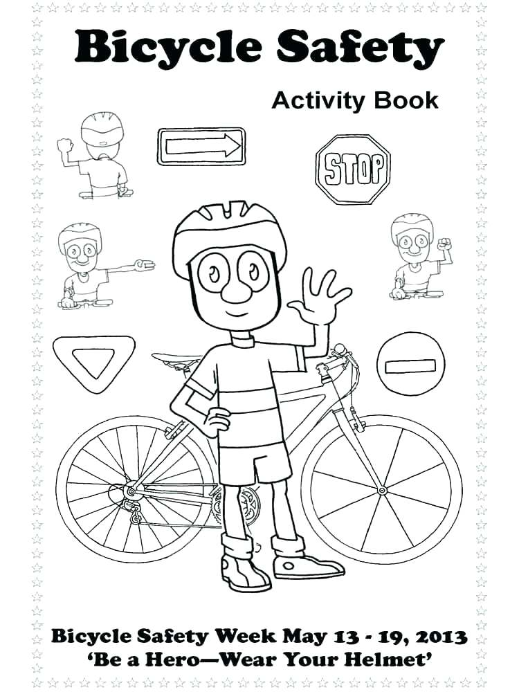 750x1000 Bike Safety Coloring Pages Bike Safety Coloring Pages Bike Helmet