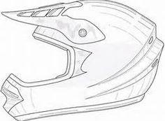 236x173 Dirt Bike Helmet Coloring Page Sketch Template Art