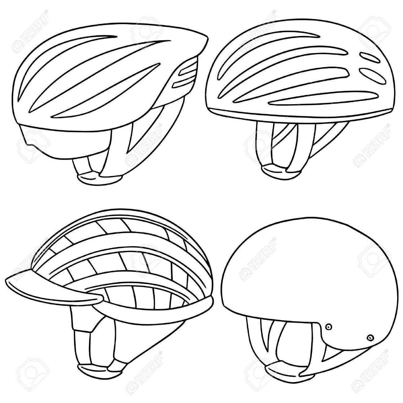 1300x1300 Vector Set Of Bicycle Helmet Royalty Free Cliparts, Vectors,