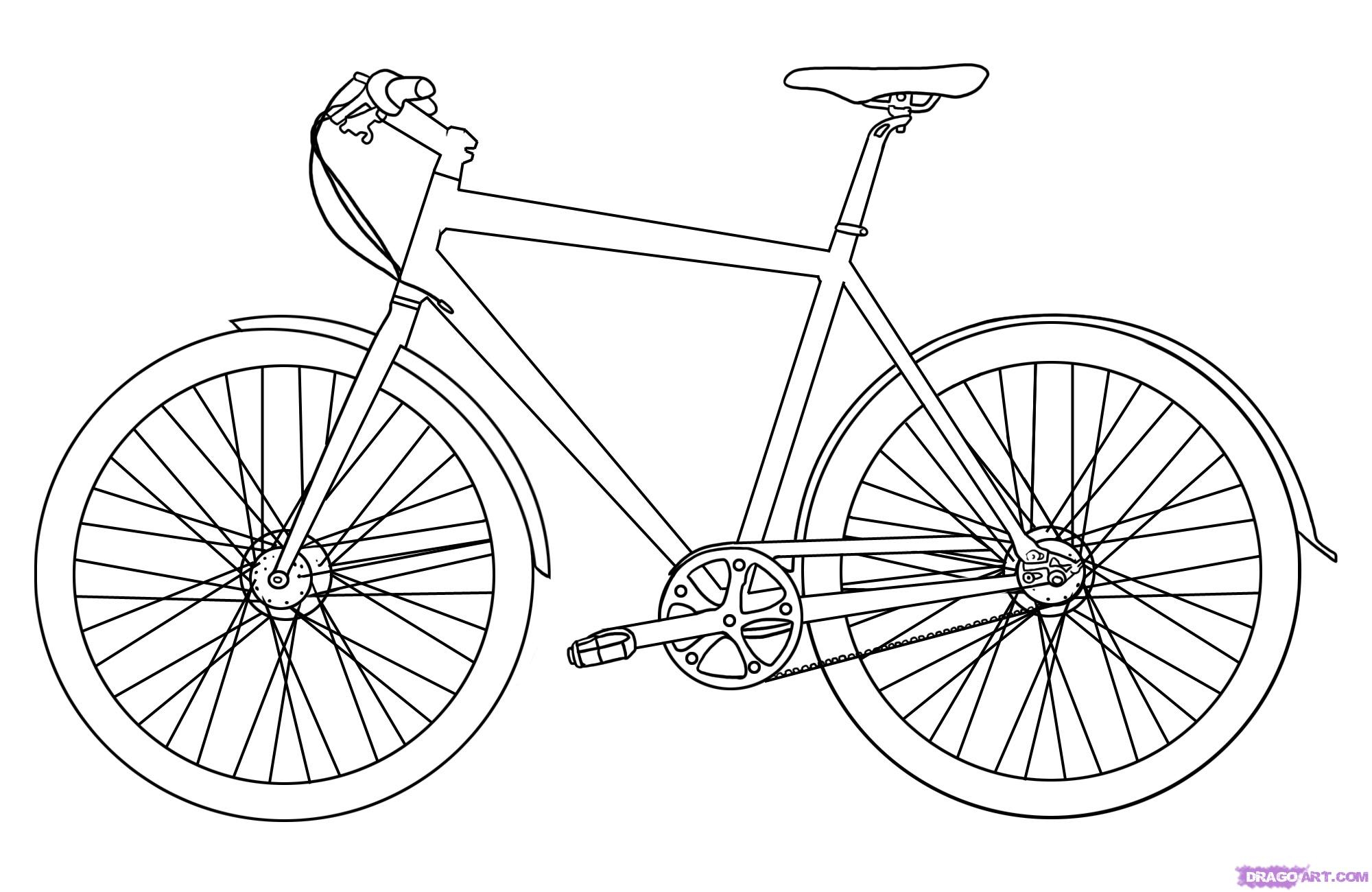 2000x1300 Pencil Drawings Of Bicycles How To Draw A Bicycle, Stepstep, Stuff