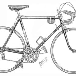 250x250 Bike Drawing, Pencil, Sketch, Colorful, Realistic Art Images