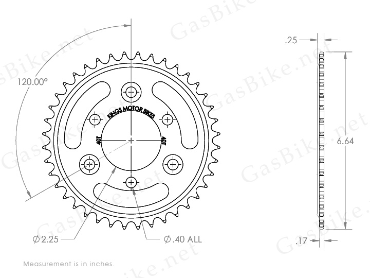 Bicycle Technical Drawing