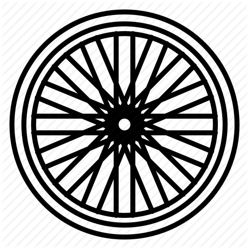 512x512 Bicycle, Bicycle Wheel, Bike, Cog, Racing, Spokes, Wheel Icon