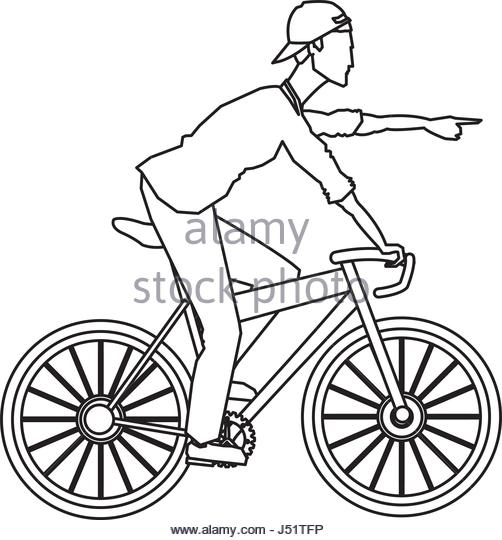 502x540 Cycling Bicycle Sketch Stock Photos Amp Cycling Bicycle Sketch Stock