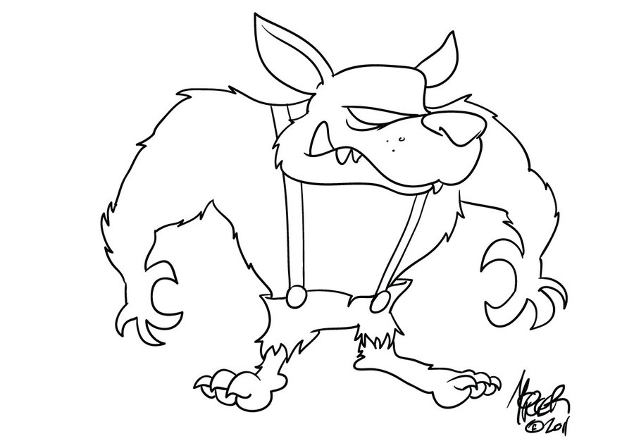 Big Bad Wolf Drawing At Getdrawingscom Free For Personal Use - Big-bad-wolf-coloring-page