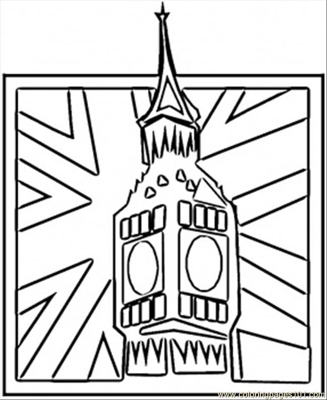 650x795 Big Ben Coloring Page