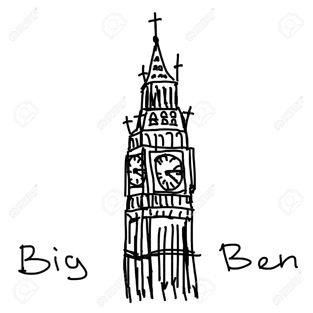 1300x1300 Big Ben Illustration Stock Photo, Picture And Royalty Free Image