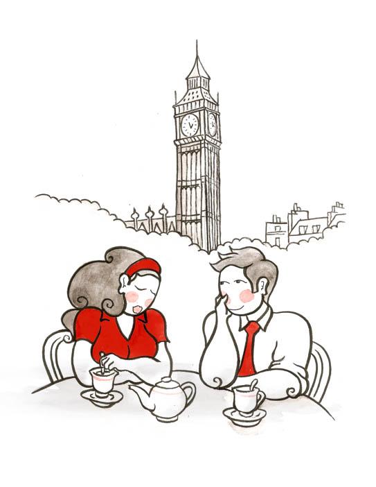 543x702 Honeymoon London Loving Couple