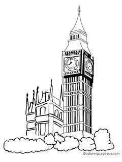 Big Ben Line Drawing At Getdrawings Com Free For