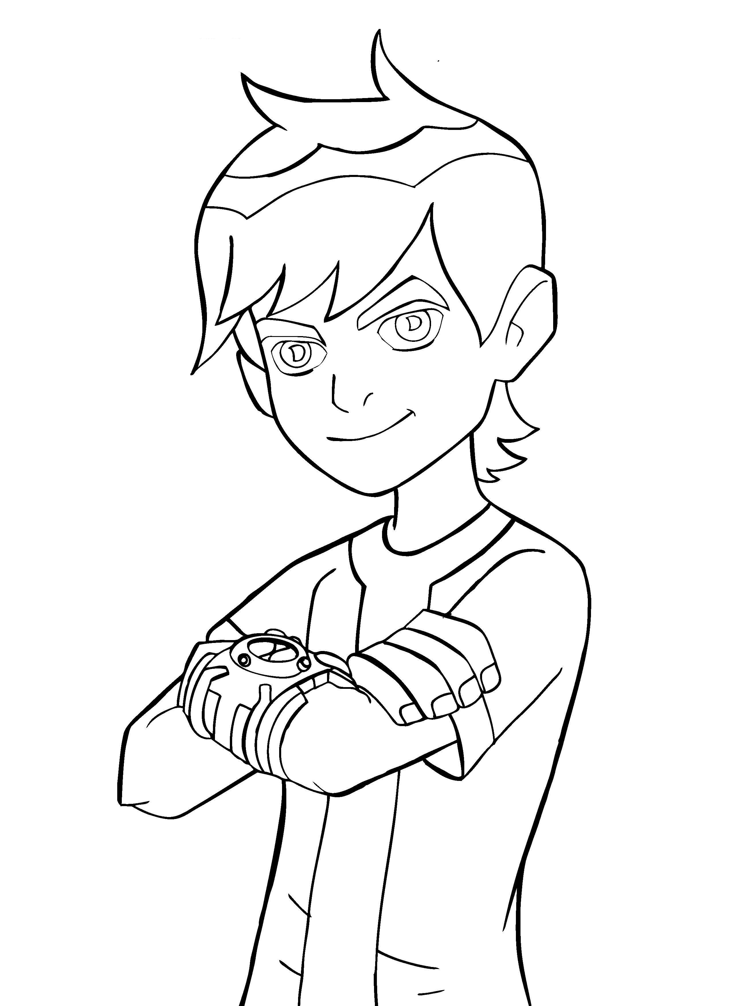 2554x3508 Fascinating Ben 10 Outline Good Coloring Pages 52 With Additional