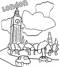 254x287 Big Ben Coloring Pages