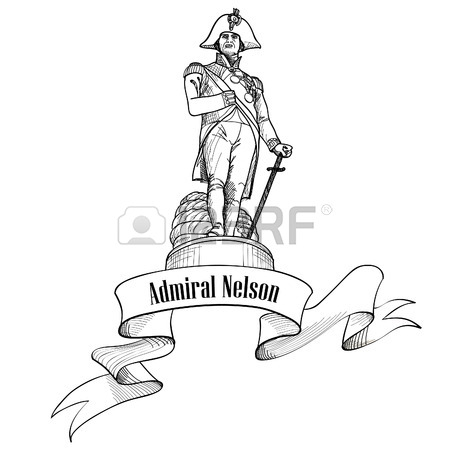450x450 Vector Illustration Of Nelson Column Of London Royalty Free