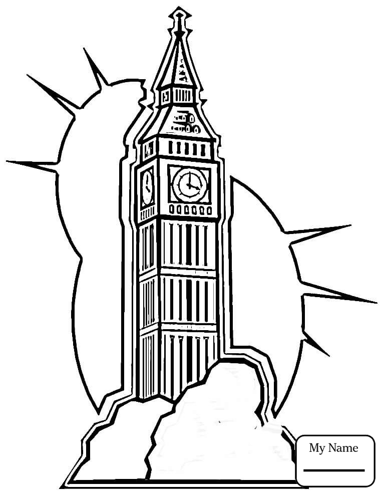 765x990 Coloring Pages Big Ben In London Countries Cultures United Kingdom