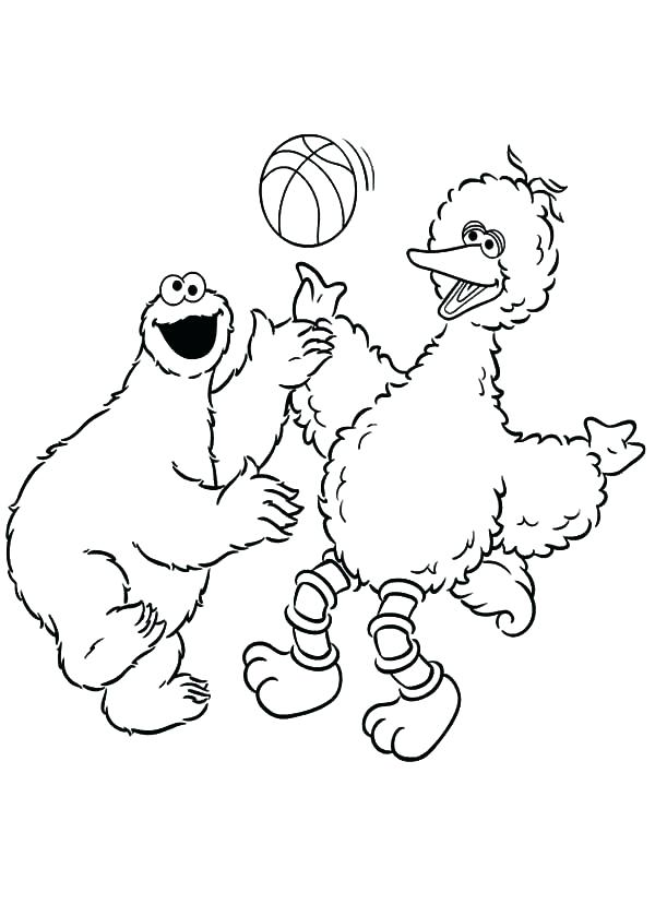 600x839 Cool Cookie Monster Coloring Page Best Of This Is Big Bird