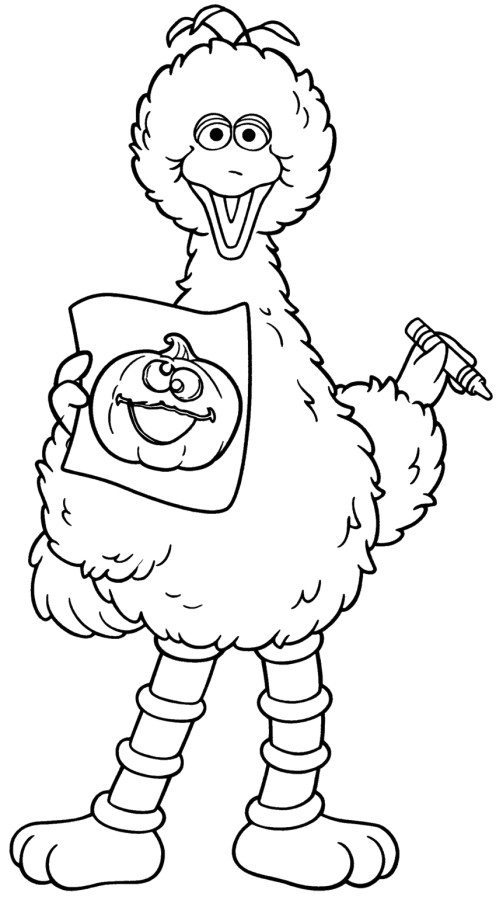 496x900 Enchanting Big Bird Coloring Page 94 For Free Coloring Kids