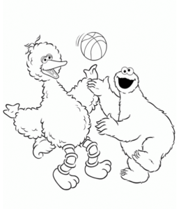 260x300 Big Bird Coloring Pages Playing Learning